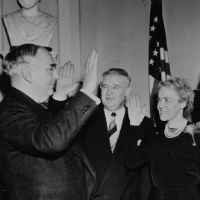 Reenactment of Oath-taking in the Vice President's Office, January 3, 1949