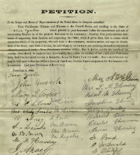 Petitions Referred to the Senate Committee on Finance Regarding the Passage of the Revenue Acts of 1861 and 1862