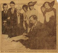 Governor Albert H. Roberts Signing the Tennessee Certificate of Ratification of the 19th Amendment, August 1920