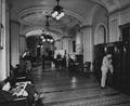 U.S. Senate Press Gallery in the corridor, ca. 1950