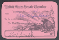 Senate Gallery Pass: 90th Congress