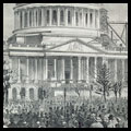View of the Capitol, Showing Present State of the Dome--Taken during the Inauguration of Lincoln, Monday, March 4, 1861.