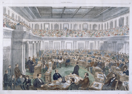 The Senate as a Court of Impeachment for the Trial of Andrew Johnson.