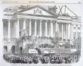 Inauguration of Mr. Buchanan, as President of the United States, at Washington.