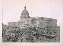 The Inauguration of Grover Cleveland as President of the United States / Scene in Front of the Capitol on the Arrival of the Inaugural Procession