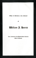 Image:  Order of Services, 1932 TWilliam J. Harris Funeral (Cat. no. 11.00004.00d)