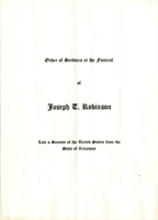 Image: Order of Services, 1937 Joseph T. Robinson Funeral (Cat. no. 11.00045.021)