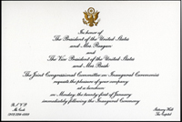 Image, Invitation for the 1985 Presidential Inauguration Luncheon.