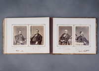 Image of Album with Cabinet Card Portraits