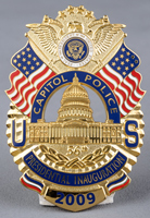 Image of the U.S. Capitol Police Badge for the 2009 Inauguration Ceremonies.