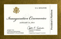 Image: Ticket, 2013 Inauguration Ceremonies (Cat. no. 11.00112.001)