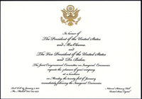 Invitation, 2013 Inauguration Luncheon