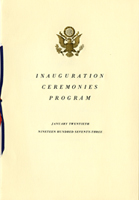 Image of the 1973 Inauguration Program