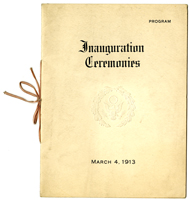 Image of the Program for 1913 Inauguration Ceremonies
