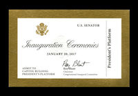 2017 Inaugural Ticket