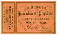 Impeachment ticket for Pres. Johnson