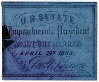 Image: Ticket, 1868 Impeachment Trial, United States Senate Chamber (Cat. no. 16.00079.001)