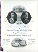 Image: Program, Sesquicentennial Celebration of the Supreme Court of the United States, City of Washington, February 1, 1940(Cat. no. 16.00270.000a)