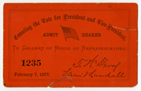 Image: Ticket, Counting the Vote for President and Vice-President, Gallery of House of Representatives(Cat. no. 16.00275.000)
