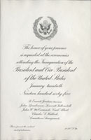 Image of the invitation for the 1965 Presidential Inauguration.