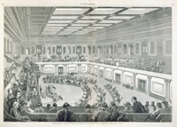 The United States Senate in Session in Their New Chamber.