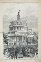 View of the Capitol, Showing Present State of the Dome.—Taken during the Inauguration of Lincoln, Monday, March 4, 1861.