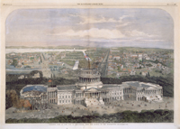Birds Eye View of the City of Washington, with the Capitol in the Foreground