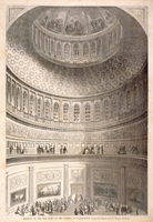 Interior of the New Dome of the Capitol at Washington.