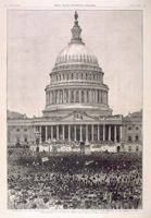 Washington, D.C.—The Inauguration of President Cleveland, March 4th.—Popular Ovation to the President at the Moment of the Administration of the Oath of Office.