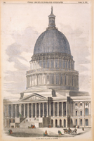 The New Dome of the Capitol at Washington.