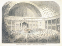 Interior View of the United States House of Representatives, at Washington, D.C.