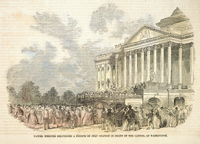 Daniel Webster Delivering a Fourth of July Oration in Front of the Capitol at Washington.