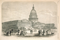 The Capitol at Washington, with the New Extensions.