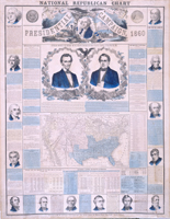 National Republican Chart—Presidential Campaign 1860