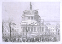 Inauguration of President Lincoln, in Front of the Capitol, at Washington, D. C.