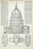 Sectional View of the Capitol at Washington. / Ground Plan of the Capitol at Washington, Showing the Recent Additions.
