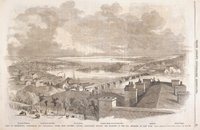 View of Georgetown, Washington and Alexandria, Taken from Columbia College, Georgetown Heights, the Quarters of the 69th Regiment of New York.