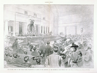 The Supreme Court of the United States, Washington, D.C.— Scenes at the Reopening of the Income-Tax Cases, Monday, May 6, 1895.
