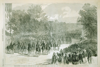 Grand Review at Washington—Sheridan's Cavalry Passing through Pennsylvania Avenue, May 23, 1865.