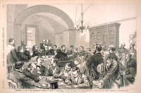 Washington, D.C.—The Potter Investigation Committee in Session in the Basement of the Old Capitol—The Cross-Examination, on June 4th, of the Witness Anderson by Congressman Reed.