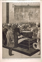 The Funeral of General Logan—Lying in State in the Rotunda of the Capitol.