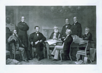 The First Reading of the Emancipation Proclamation Before the Cabinet.