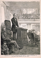 Washington, D.C.—The New Administration—Hon. William A. Wheeler, Vice-President of the United States, Presiding over the Senate.