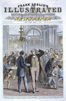 Washington, D. C.—Removal of Hon. Charles Sumner from the Chairmanship of the Committee on Foreign Relations—Scene in Reception Room, Capitol; Mr. Sumner Receiving the Sympathy of His Colleagues.
