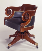 Russell Senate Office Building Round Arm Swivel Chair