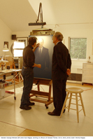 Alan Magee painting George Mitchell