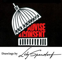 Advise and Consent Poster and Spandorf Signature