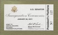 Image, 2001 Inauguration Ticket