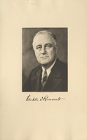 Image of the President from the invitation for the 1937 Presidential Inauguration.