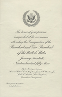 Image of the invitation for the 1953 Presidential Inauguration.